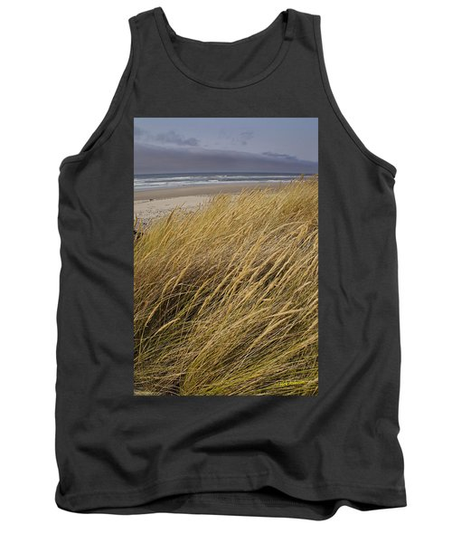 Tank Top featuring the photograph Dune Grass On The Oregon Coast by Mick Anderson