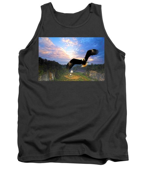 Tank Top featuring the photograph Eagle At Paint Creek Dam by Randall Branham