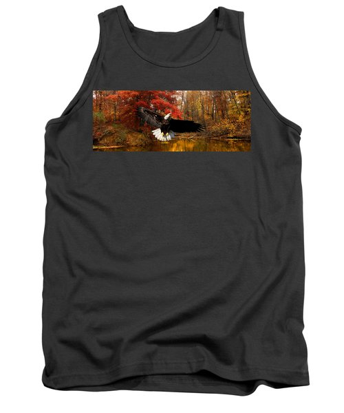 Tank Top featuring the photograph Eagle In Autumn Splendor by Randall Branham