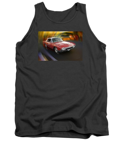 Early 60s Red Thunderbird Tank Top by Mick Anderson