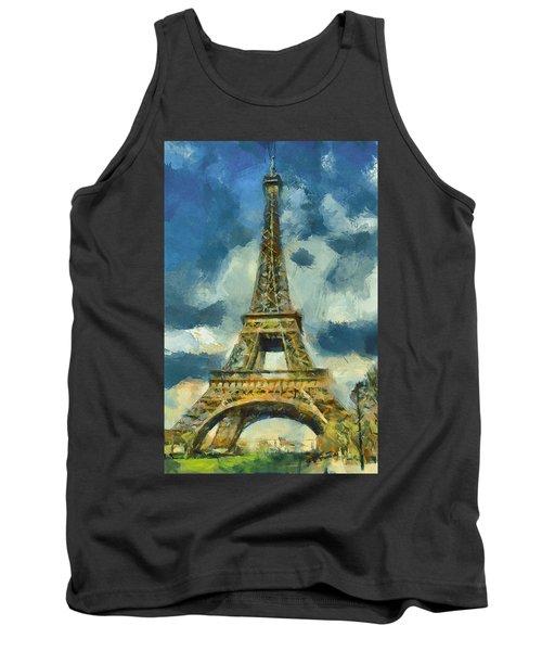 Eiffel Tower In Spring Tank Top