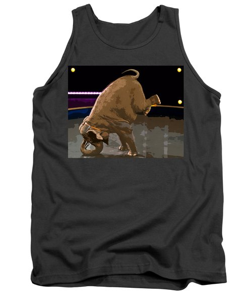 Tank Top featuring the photograph Elephant Perfomance At Circus by Susan Leggett