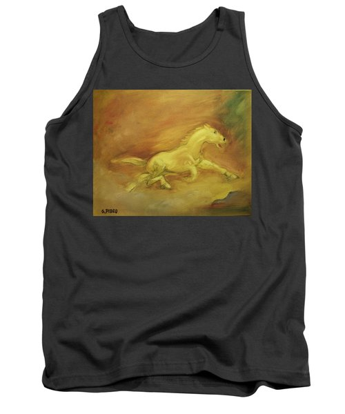 Tank Top featuring the painting Escaping The Flames by George Pedro