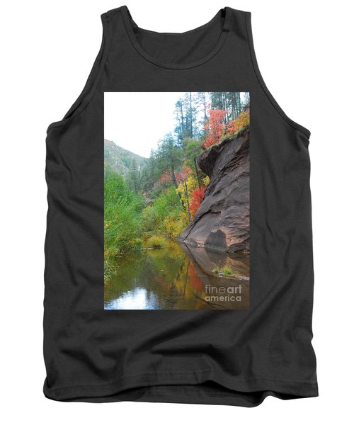 Fall Peeks From Behind The Rocks Tank Top