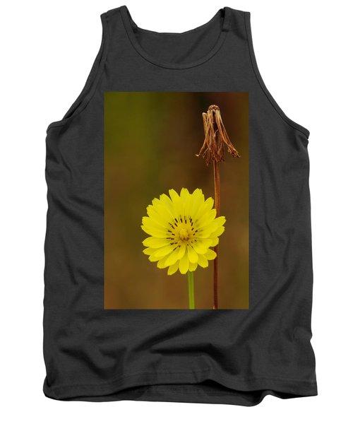 False Dandelion Flower With Wilted Fruit Tank Top