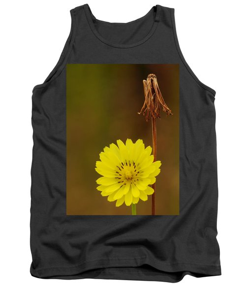 False Dandelion Flower With Wilted Fruit Tank Top