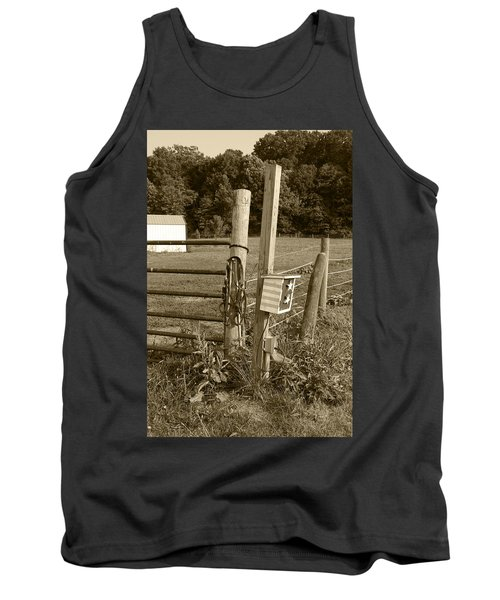 Tank Top featuring the photograph Fence Post by Jennifer Ancker