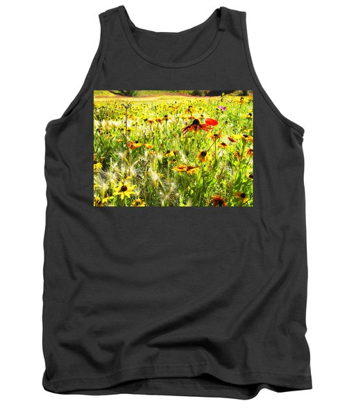 Field Of Bright Colorful Wildflowers Tank Top by Anne Mott