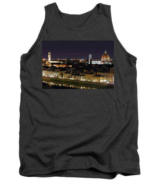 Firenze Skyline At Night - Duomo And Surroundings Tank Top