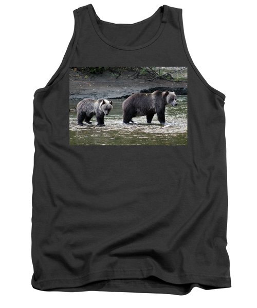 Tank Top featuring the photograph Fishing Lessons by Cathie Douglas