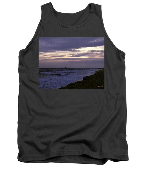 Tank Top featuring the photograph Fishing Pier Before The Storm 14a by Gerry Gantt