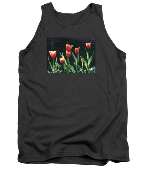 Flared Red Yellow Tulips Tank Top by Tom Wurl