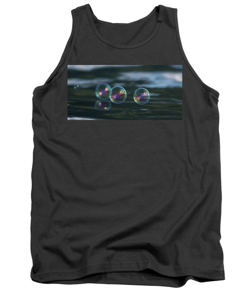 Tank Top featuring the photograph Floating Bubbles by Cathie Douglas