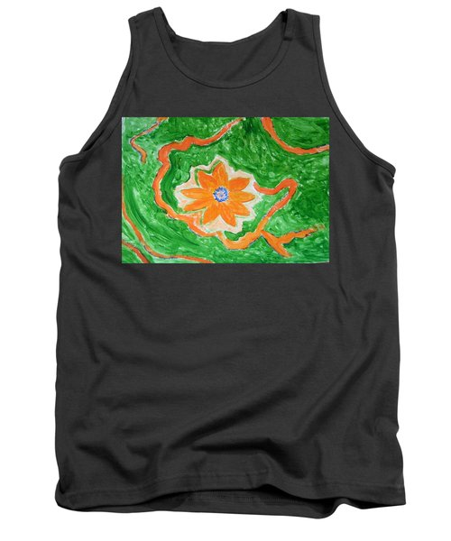 Tank Top featuring the painting Floating Flower by Sonali Gangane