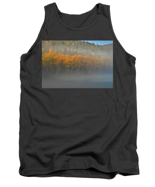 Foggy Autumn Morning Tank Top by Albert Seger