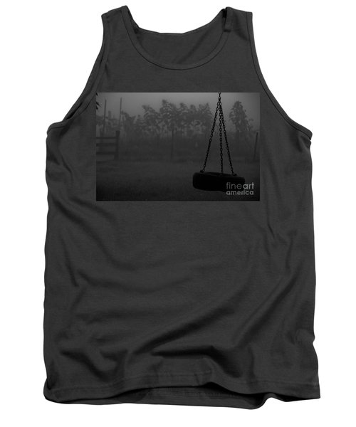 Tank Top featuring the photograph Foggy Playground by Cheryl Baxter