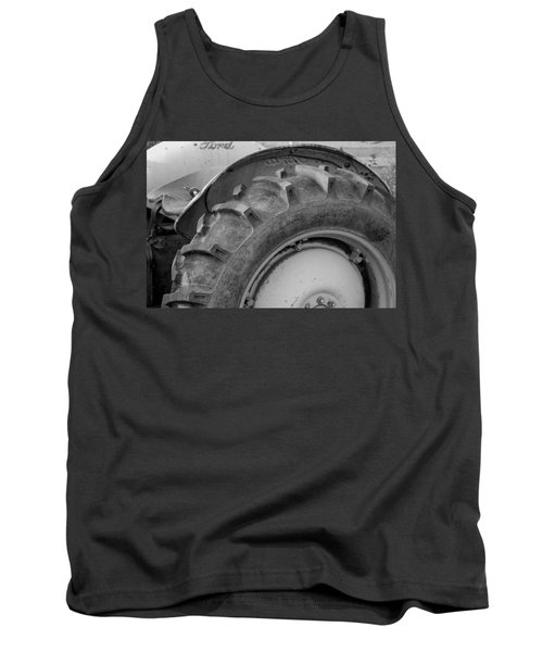 Tank Top featuring the photograph Ford Tractor In Black And White by Jennifer Ancker