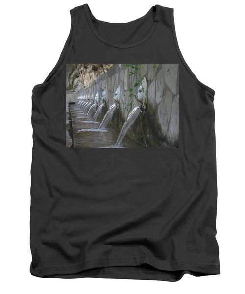Tank Top featuring the photograph Fountain by David Gleeson