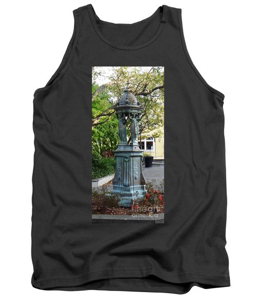 Tank Top featuring the photograph Garden Statuary In The French Quarter by Alys Caviness-Gober