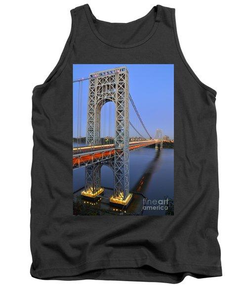 George Washington Bridge At Twilight Tank Top by Zawhaus Photography