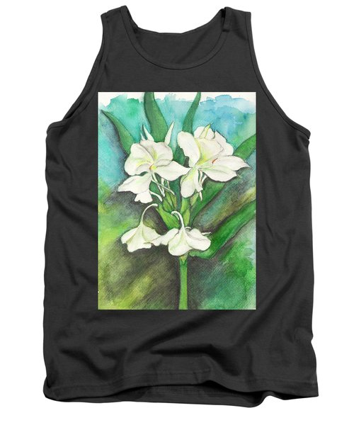 Tank Top featuring the painting Ginger Lilies by Carla Parris