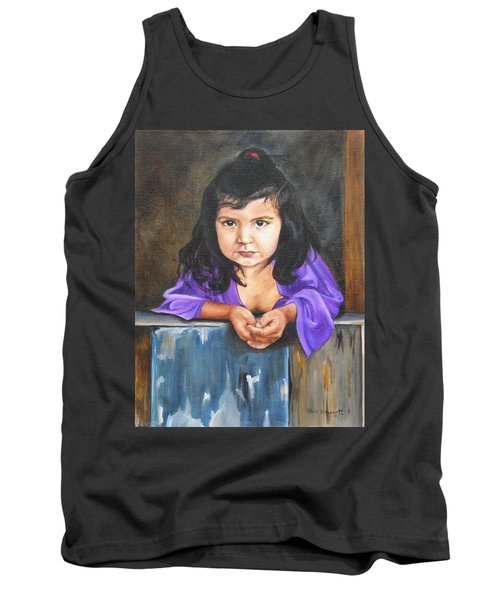 Tank Top featuring the painting Girl From San Luis by Lori Brackett