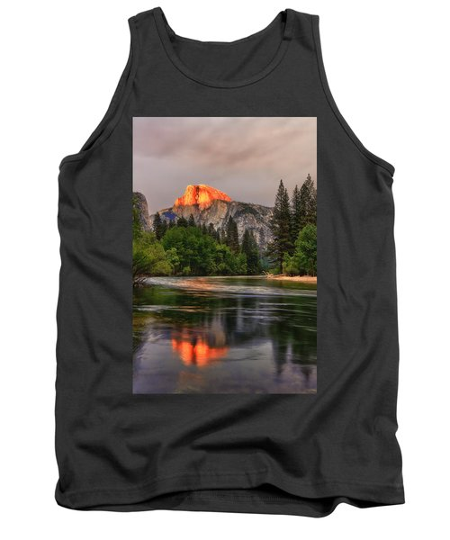 Golden Light On Halfdome Tank Top