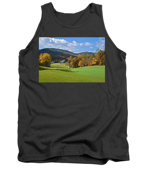 Golf Course In Autumn Tank Top