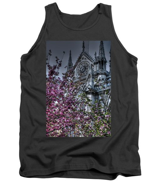 Tank Top featuring the photograph Gothic Paris by Jennifer Ancker