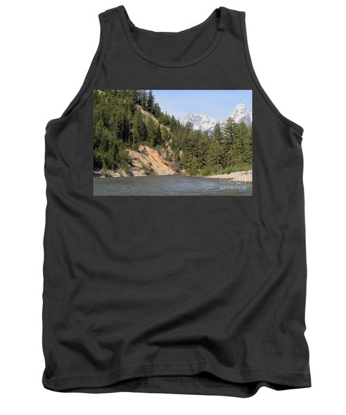 Tank Top featuring the photograph Grand Tetons From Snake River by Living Color Photography Lorraine Lynch