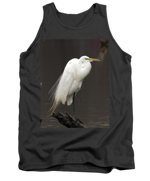 Tank Top featuring the photograph Great Egret Resting Dmsb0036 by Gerry Gantt