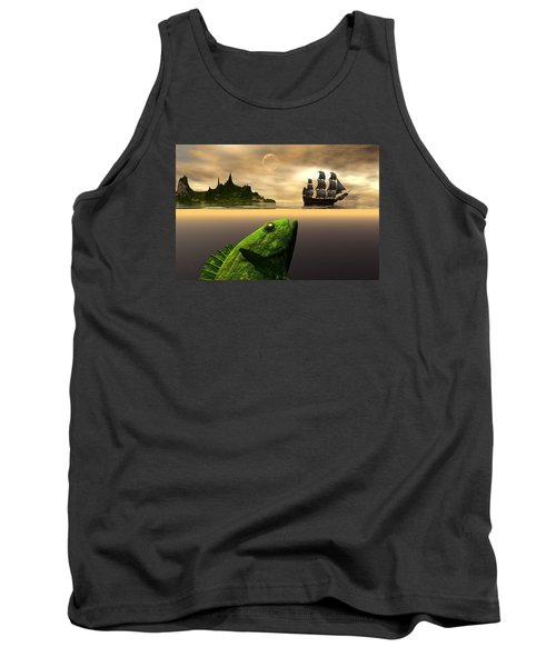 Tank Top featuring the digital art Gustatory Anticipation by Claude McCoy