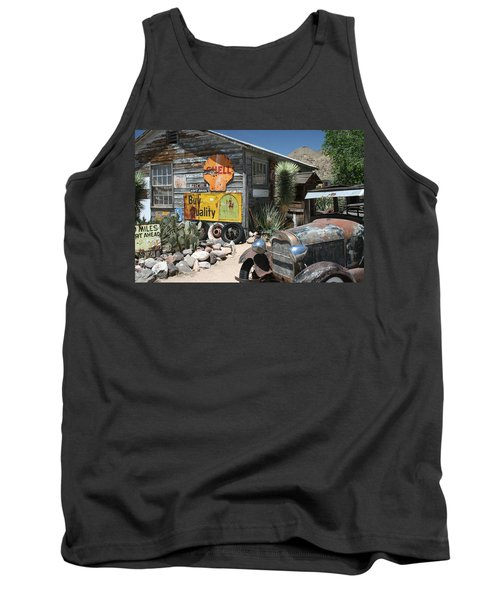Hackberry Signs   Arizona Route 66 Tank Top
