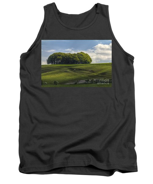 Tank Top featuring the photograph Hackpen Hill by Clare Bambers