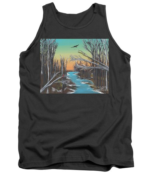 Tank Top featuring the painting Happy Day by Alys Caviness-Gober