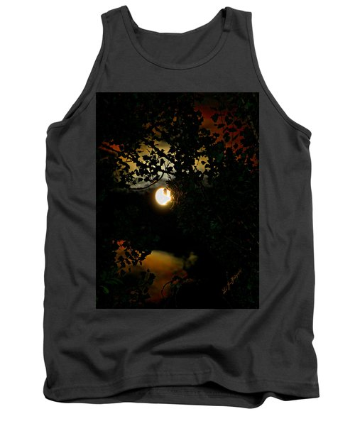 Tank Top featuring the photograph Haunting Moon IIi by Jeanette C Landstrom