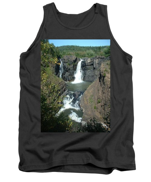 Tank Top featuring the photograph High Falls Grand Portage by Bonfire Photography