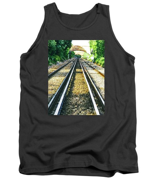 Tank Top featuring the photograph How Come They Never Go Up The Middle by Steve Taylor