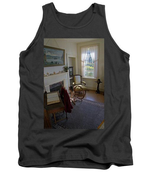 Tank Top featuring the photograph Inside Yaquina Bay Lighthouse by Mick Anderson