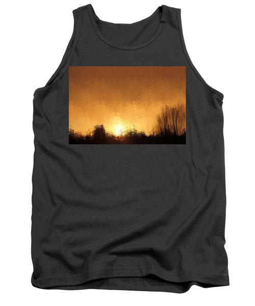 Tank Top featuring the mixed media Insomnia 1 by Terence Morrissey
