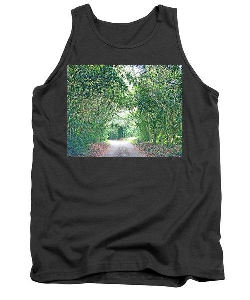 Tank Top featuring the photograph Jungle Drive Avery Island La by Lizi Beard-Ward