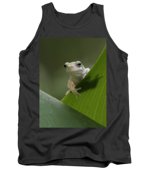 Tank Top featuring the photograph Juvenile Grey Treefrog by Daniel Reed