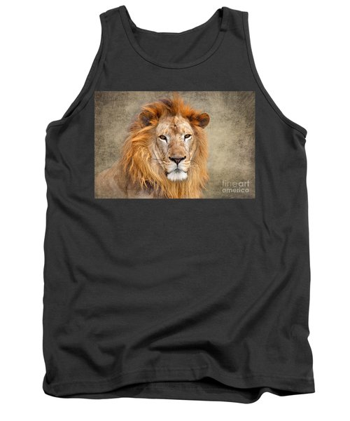 King Of Beasts Portrait Of A Lion Tank Top