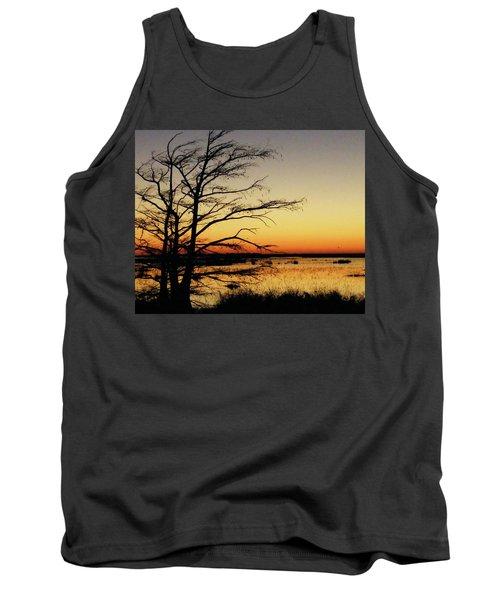Tank Top featuring the photograph Lacassine Sunset by Lizi Beard-Ward
