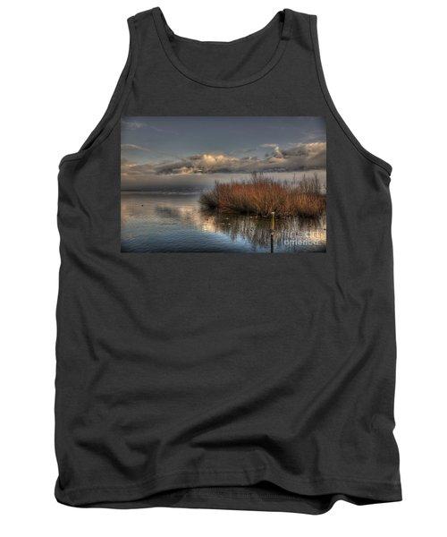 Lake With Pampas Grass Tank Top