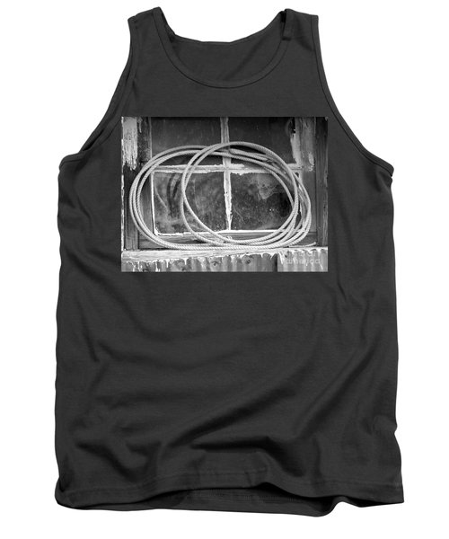 Tank Top featuring the photograph Lasso In The Window  by Deniece Platt