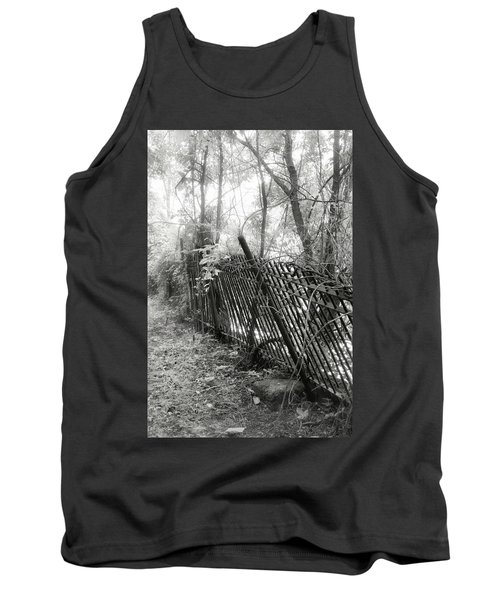 Tank Top featuring the photograph Leaning Fence by Mary Almond