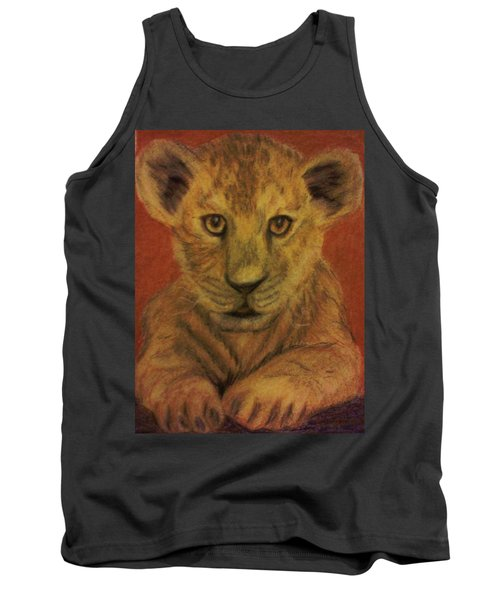 Tank Top featuring the pastel Lion Cub by Christy Saunders Church