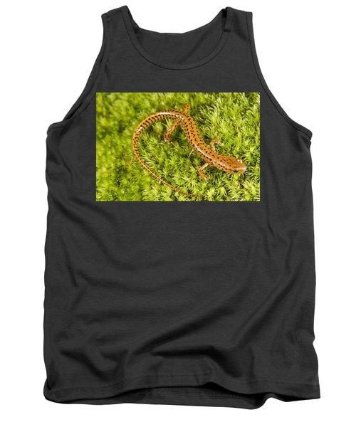 Longtail Salamander Eurycea Longicauda Tank Top by Jack Goldfarb