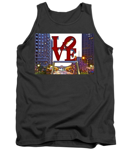 Tank Top featuring the photograph Love In Philadelphia by Alice Gipson